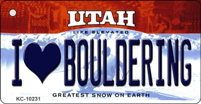 I Love Bouldering Utah State License Plate Wholesale Key Chain