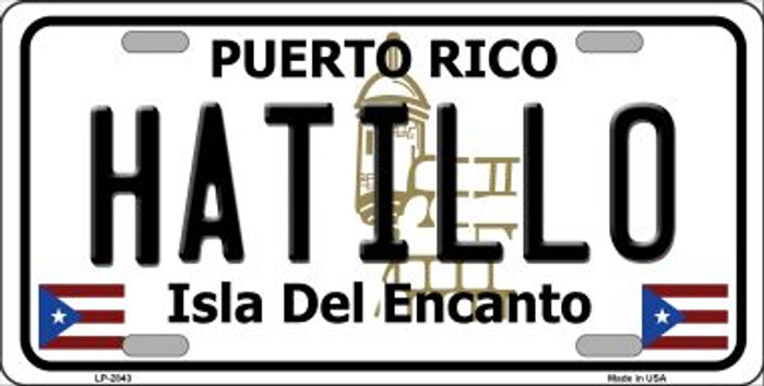 Hatillo Puerto Rico Wholesale Metal Novelty License Plate LP-2843