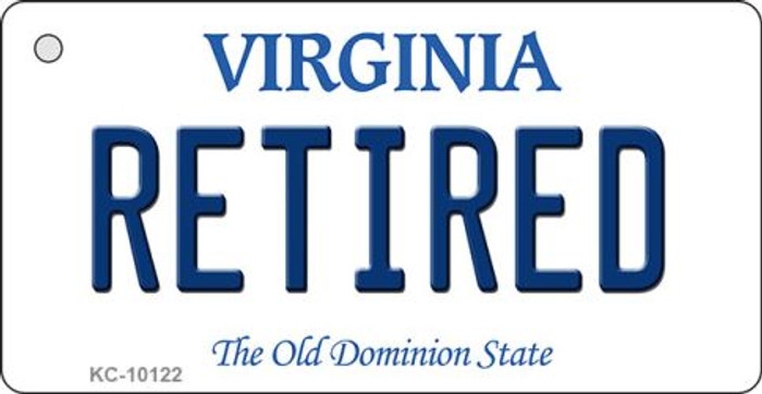 Retired Virginia State License Plate Wholesale Key Chain