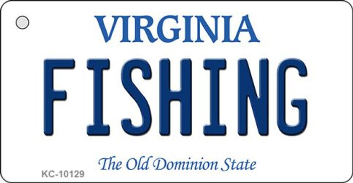 Fishing Virginia State License Plate Wholesale Key Chain