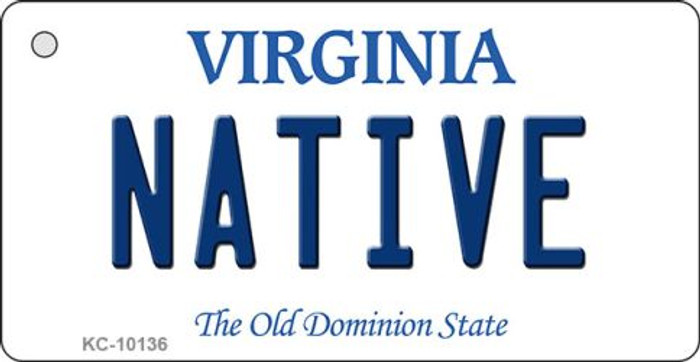 Native Virginia State License Plate Wholesale Key Chain