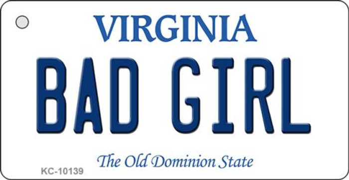 Bad Girl Virginia State License Plate Wholesale Key Chain