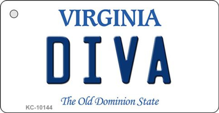 Diva Virginia State License Plate Wholesale Key Chain