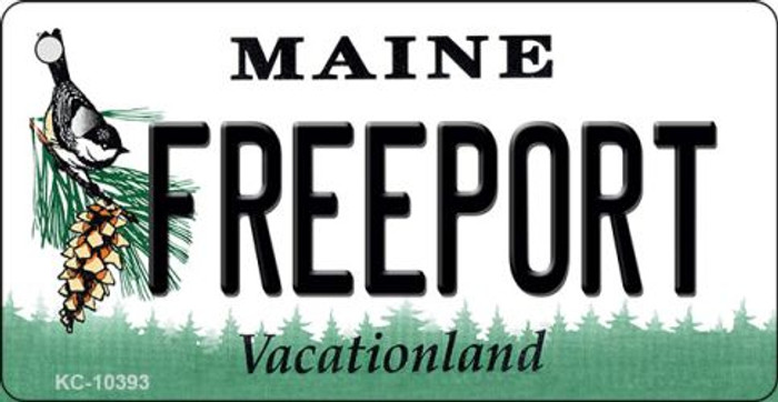 Freeport Maine State License Plate Wholesale Key Chain