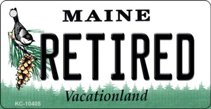 Retired Maine State License Plate Wholesale Key Chain
