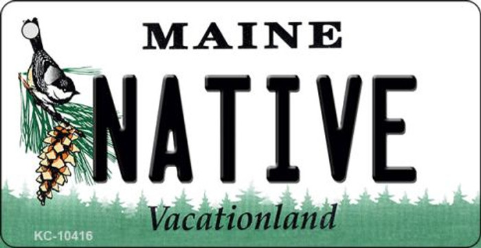 Native Maine State License Plate Wholesale Key Chain