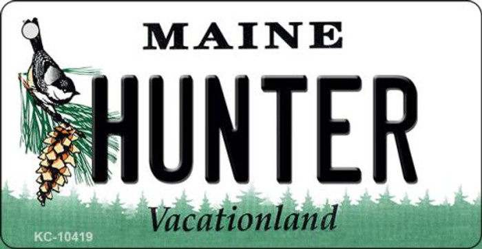 Hunter Maine State License Plate Wholesale Key Chain
