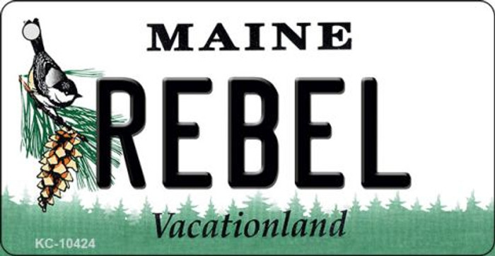 Rebel Maine State License Plate Wholesale Key Chain