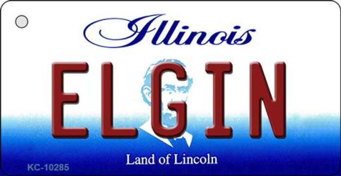 Elgin Illinois State License Plate Wholesale Key Chain