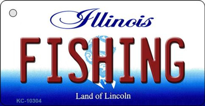 Fishing Illinois State License Plate Wholesale Key Chain