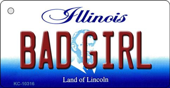 Bad Girl Illinois State License Plate Wholesale Key Chain