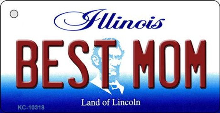 Best Mom Illinois State License Plate Wholesale Key Chain