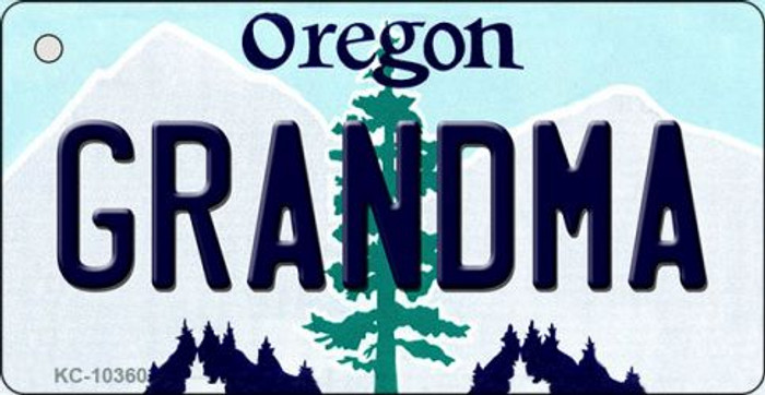 Grandma Oregon State License Plate Wholesale Key Chain