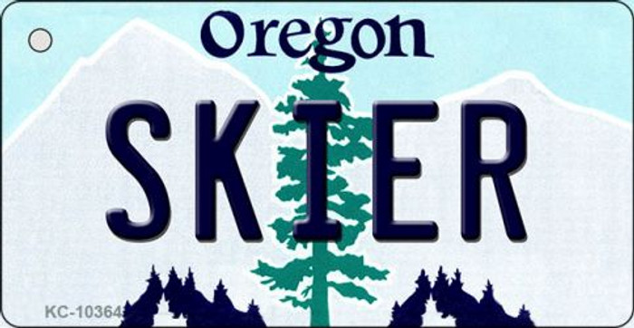 Skier Oregon State License Plate Wholesale Key Chain
