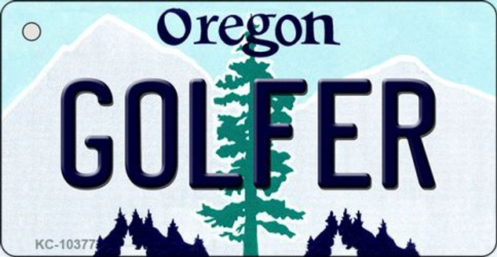 Golfer Oregon State License Plate Wholesale Key Chain