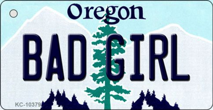 Bad Girl Oregon State License Plate Wholesale Key Chain