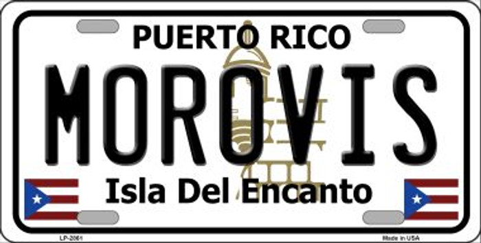 Morovis Puerto Rico Wholesale Metal Novelty License Plate LP-2861