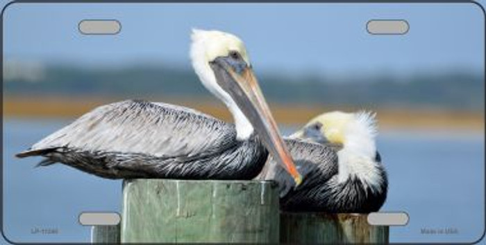 Pelican - Two On Pier License Plate Novelty Metal Wholesale