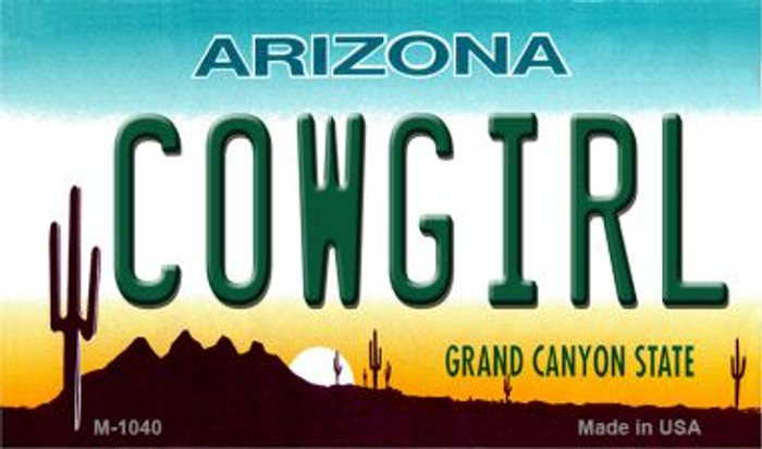 Cowgirl Arizona State License Plate Wholesale Magnet