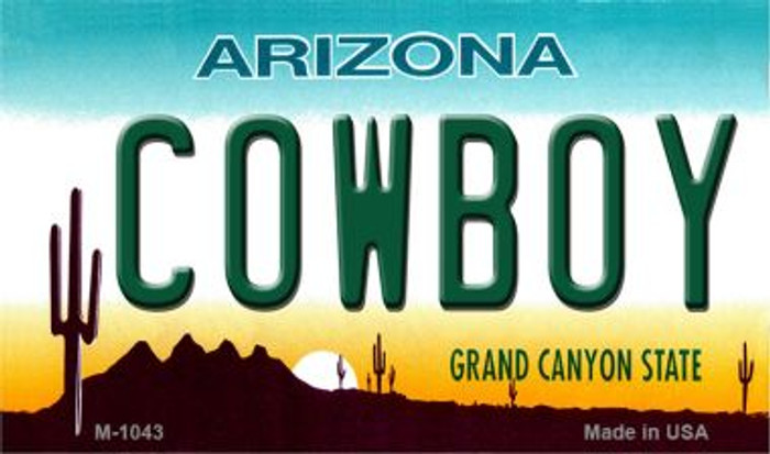 Cowboy Arizona State License Plate Wholesale Magnet