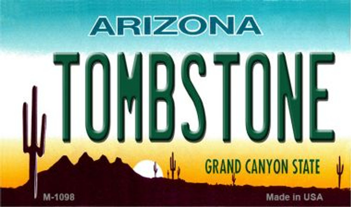 Tombstone Arizona State License Plate Wholesale Magnet