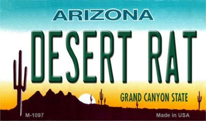 Desert Rat Arizona State License Plate Wholesale Magnet