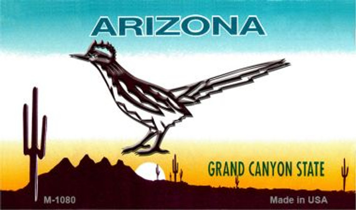 Road Runner Arizona State License Plate Wholesale Magnet