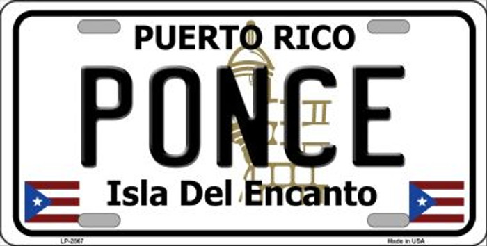 Ponce Puerto Rico Wholesale Metal Novelty License Plate LP-2867