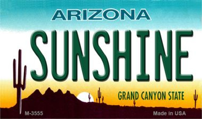 Sunshine Arizona State License Plate Wholesale Magnet