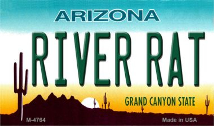 River Rat Arizona State License Plate Wholesale Magnet