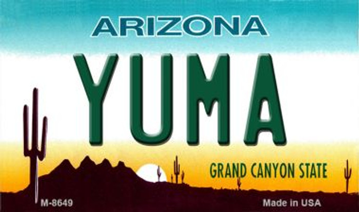 Yuma Arizona State License Plate Wholesale Magnet
