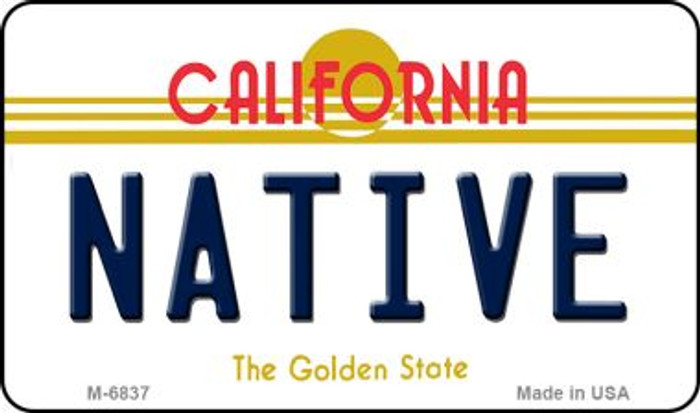Native California State License Plate Wholesale Magnet