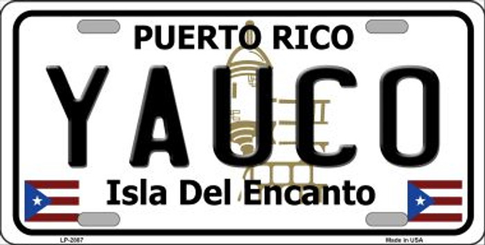Yauco Puerto Rico Wholesale Metal Novelty License Plate LP-2887