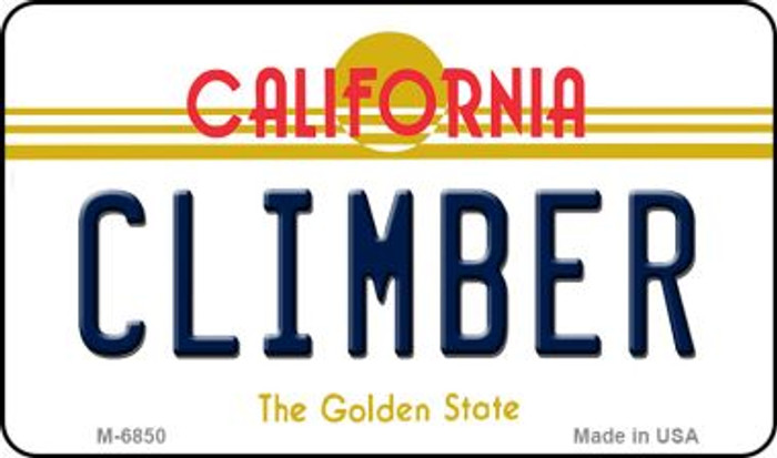 Climber California State License Plate Wholesale Magnet
