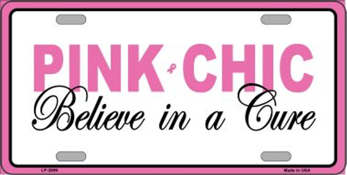 Pink Chic Wholesale Metal Vanity License Plate Sign