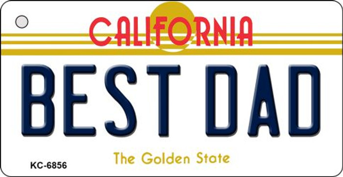Best Dad California State License Plate Wholesale Key Chain