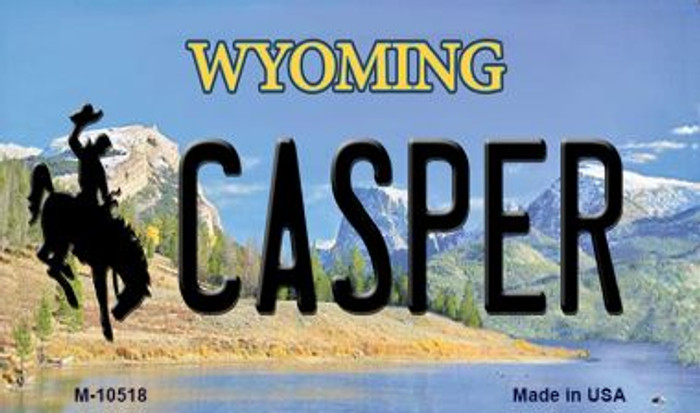 Casper Wyoming State License Plate Wholesale Magnet