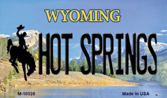 Hot Springs Wyoming State License Plate Wholesale Magnet
