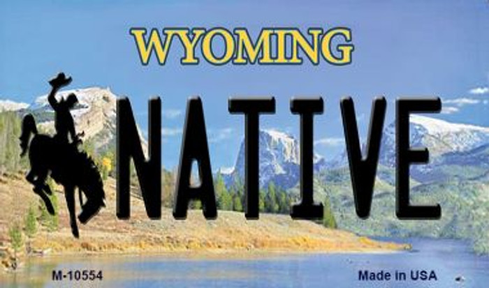 Native Wyoming State License Plate Wholesale Magnet