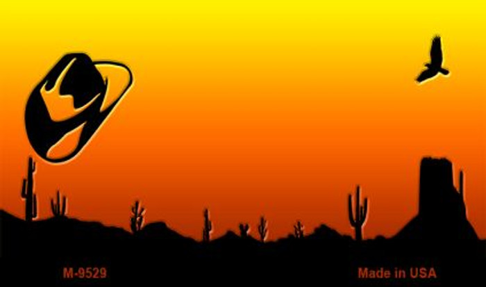 Hat Sunset Arizona Western State License Plate Wholesale Magnet