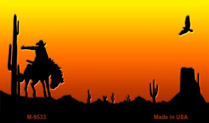 Rodeo Sunset Arizona Western State License Plate Wholesale Magnet