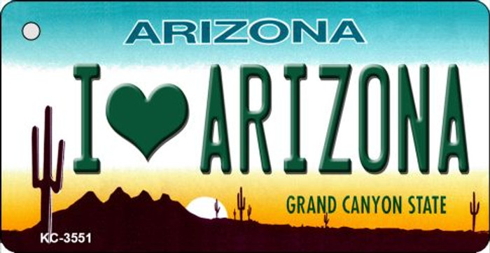 I Love Arizona State License Plate Wholesale Key Chain