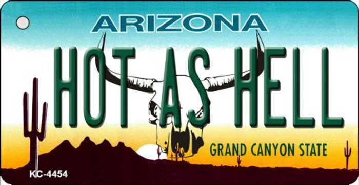 Hot As Hell (Skull) Arizona State License Plate Wholesale Key Chain