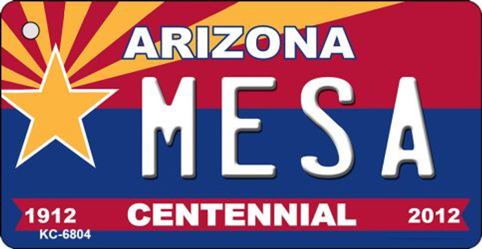 Mesa Arizona Centennial State License Plate Wholesale Key Chain