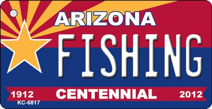 Fishing Arizona Centennial State License Plate Wholesale Key Chain