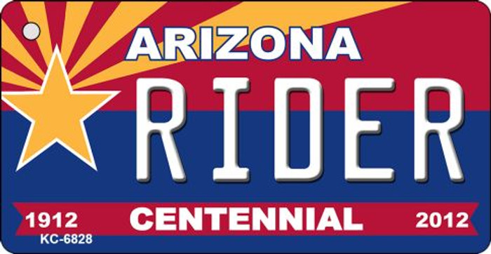 Rider Arizona Centennial State License Plate Wholesale Key Chain
