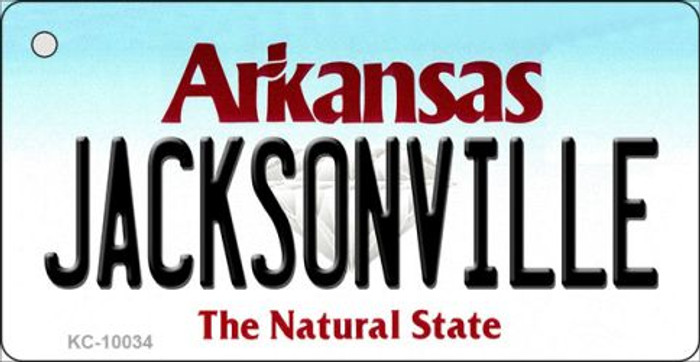 Jacksonville Arkansas Background Key Chain Metal Novelty Wholesale
