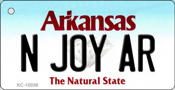 N Joy AR Arkansas Background Key Chain Metal Novelty Wholesale