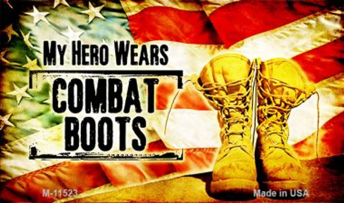 My Hero Wears Combat Boots Novelty Metal Magnet Wholesale