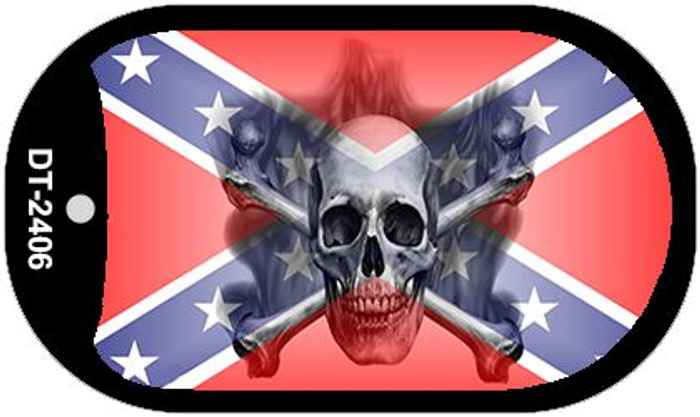 Confederate Skull Dog Tag Kit Novelty Wholesale Necklace